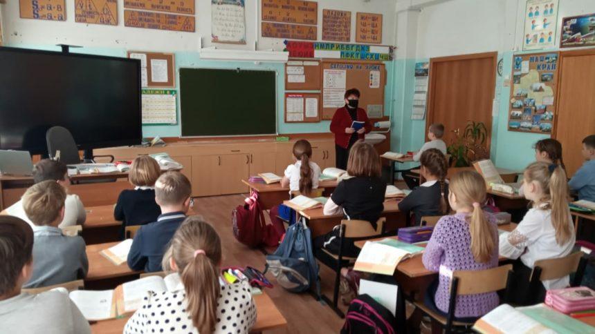 19 ноября 2020 г. преподаватель Горбачева Л.А. провела беседу с учащимися учебной площадки «Городищи» на базе СОШ №1.