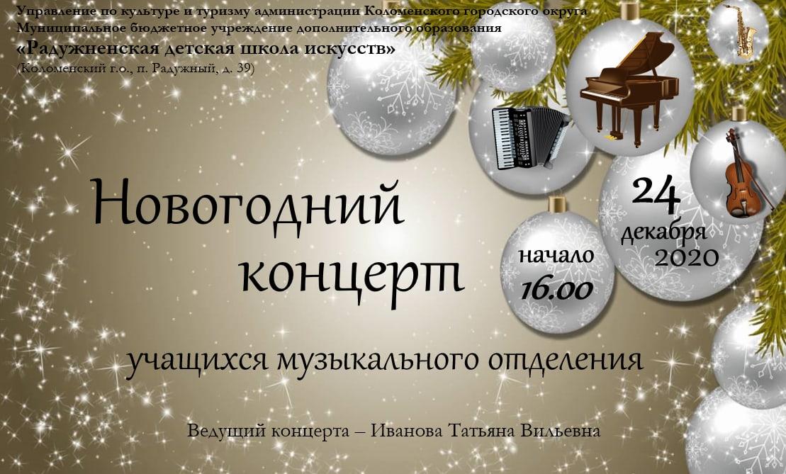Новогодний концерт  учащихся